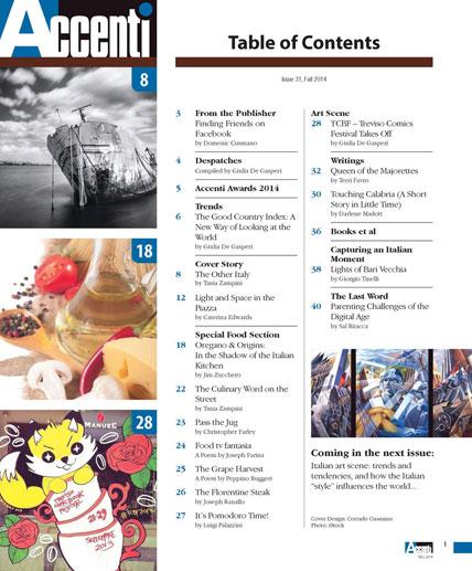 Accenti Magazine, Issue 31